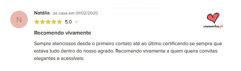 Review Casamentos.pt | Convites D'Obra de Arte