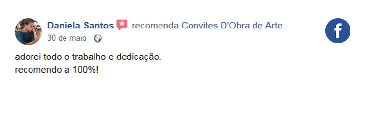 Review Facebook | Convites D'Obra de Arte